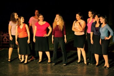 Leandra Ramm picture, singing in a Young Opera Group Take Two