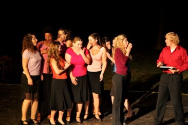 Leandra Ramm picture, singing in a Young Opera Group Take One