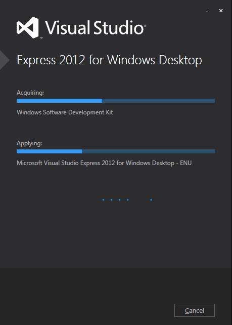 installing VS2012E