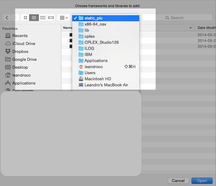 How to: Configure IBM CPLEX with Apple Xcode - Prof  Leandro