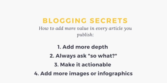 blogging content creation