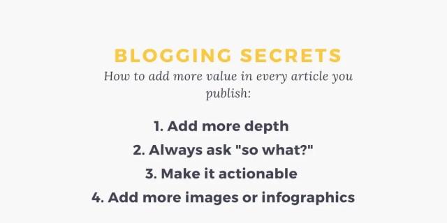 blogging content creation