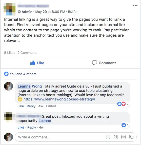 facebook opportunity seo