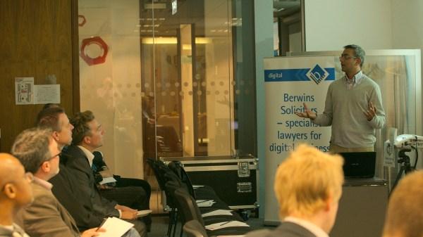 Sanjay Parakh presenting at Lean Startup Yorkshire
