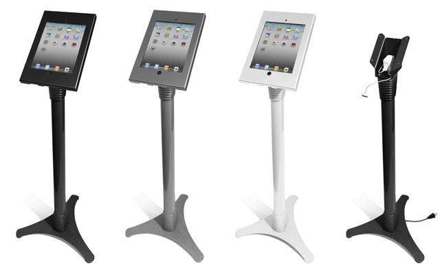MacLocks Adjustable iPad Stand Kiosk- a Metal Locking iPad2 Enclosure