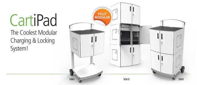 CartiPad - iPad charge & sync storage cart