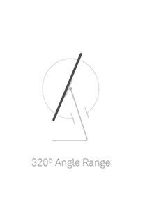 320 angle, ipad stand locks