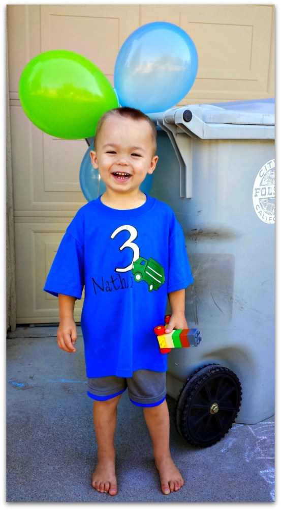 garbage truck birthday party shirt