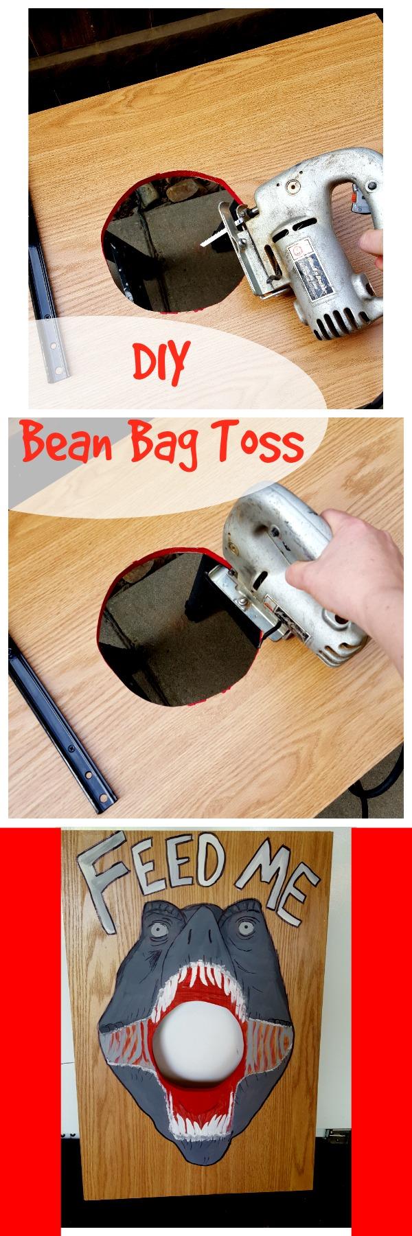 dinosaur bean bag toss