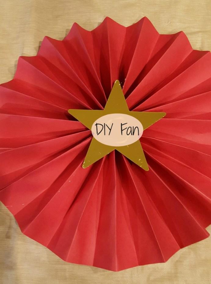 paper fan decorations diy