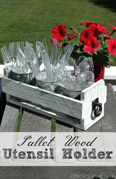wood box silverware