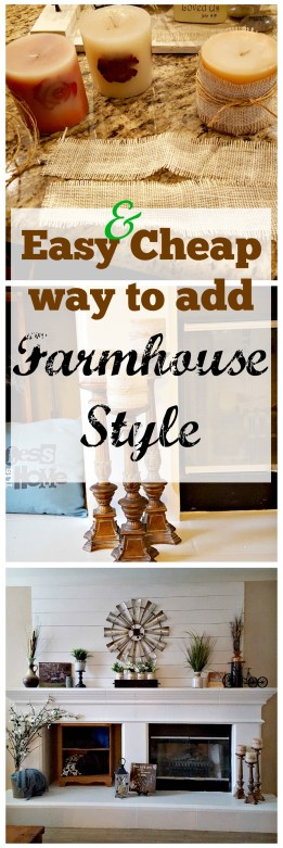 update candles to farmhouse style