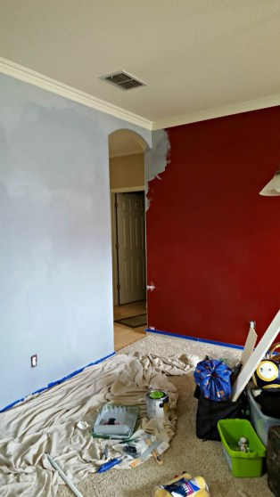 DIY painting over red walls
