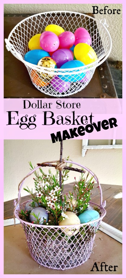 DIY Easter egg basket makeover tutorial