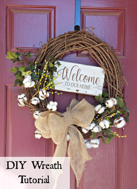 DIY grapevine spring wreath tutorial