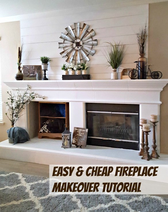 Benjamin Moore White Dove fireplace