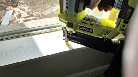 DIY farmhouse window trim molding tutorial