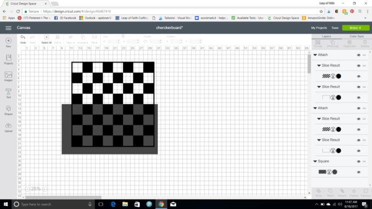 Cricut DIY checkerboard