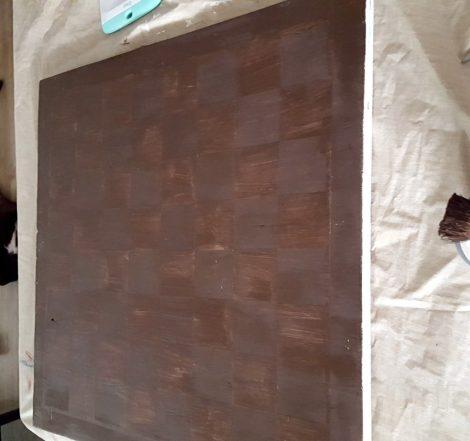 DIY large checkerboard tutorial outdoor