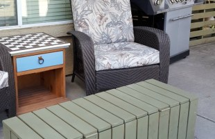 DIY Coffee Table Storage Bench