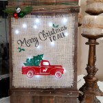 Learn How to Make a Rustic Burlap DIY Christmas Sign!