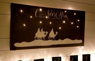 Nativity Light Up Christmas Decor Tutorial