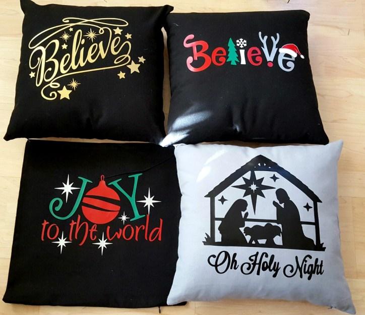 DIY Christmas pillows cricut