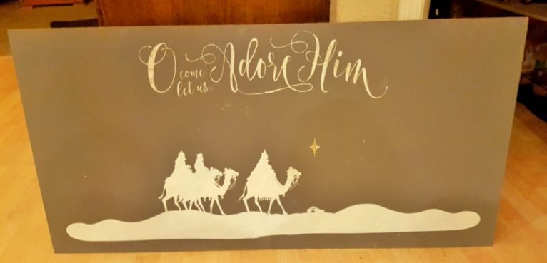 Nativity DIY Scene Sign