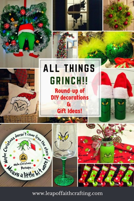 grinch DIY decorations and craft round-up