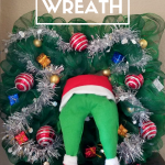 Grinch Wreath Made Out Of Dollar Tree Supplies Leap Of Faith Crafting