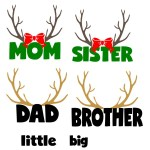 Deer Head SVG Free File to Make Family Christmas Pajamas!