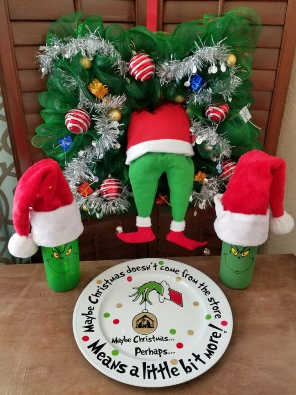 Grinch Crafts and DIY Decorations Round-up! - Leap of Faith Crafting