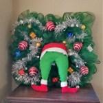 Grinch Christmas Wreath Tutorial