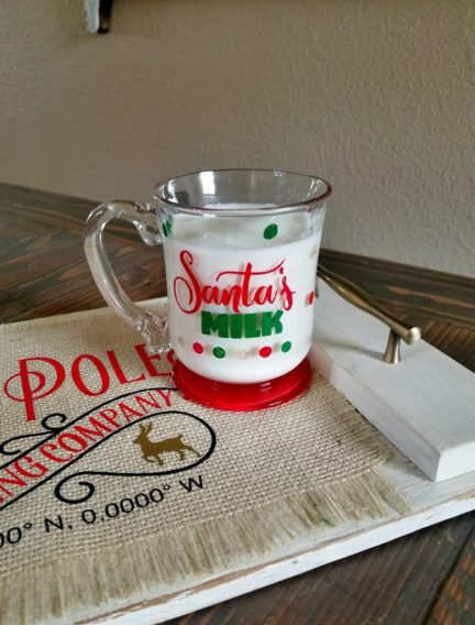 santa cookies and milk set