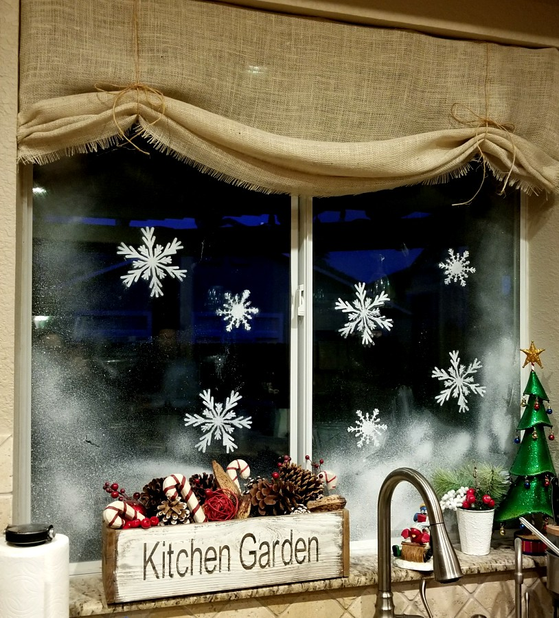 window snowflakes are so easy using window snow spray leap of faith crafting