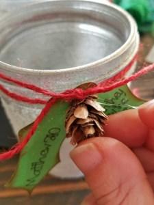 Christmas mason jar decor