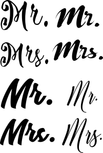 Mr. and Mrs. cut file