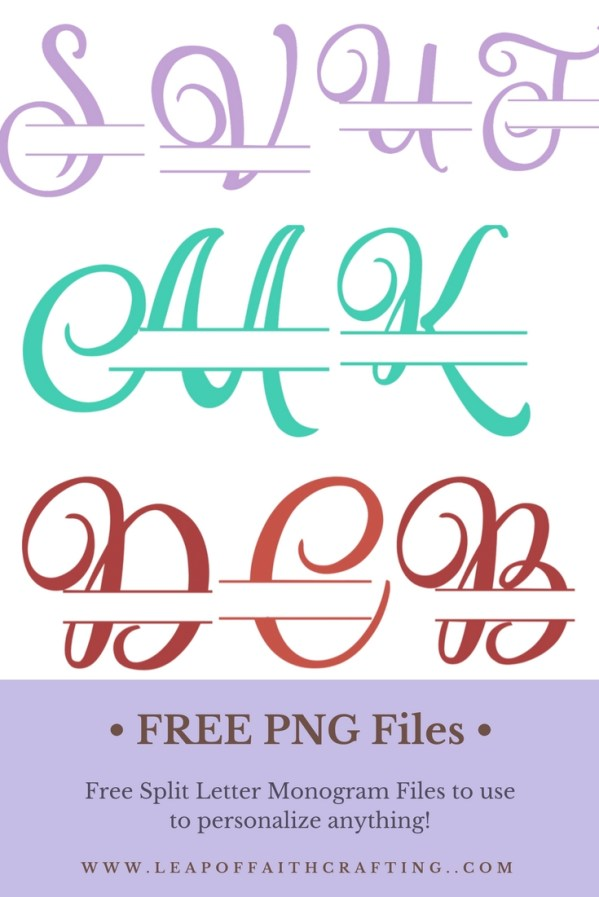 free split letter monogram cricut