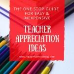 Easy and Simple Teacher Appreciation Ideas!!