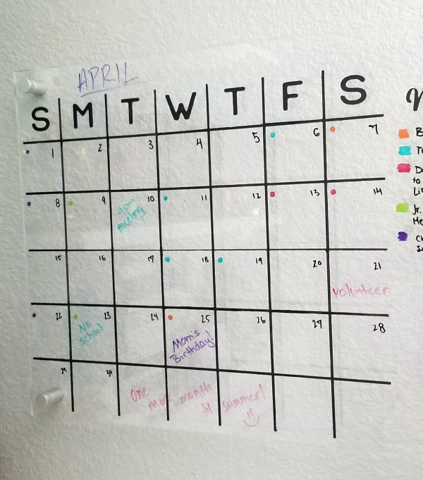 Acrylic Wall Calendar Diy With Free Cut File Leap Of Faith Crafting