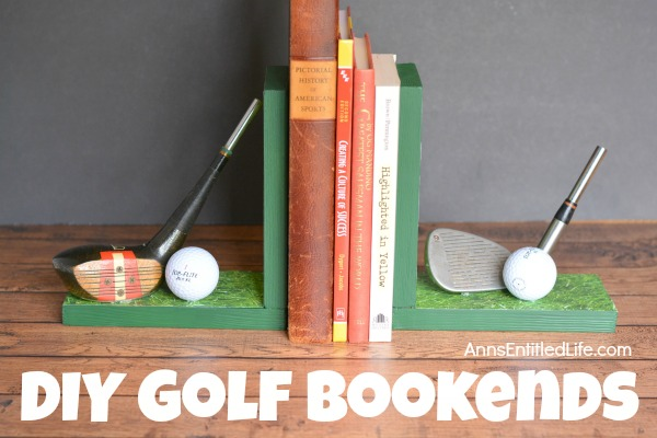 diy golf bookends horizontal