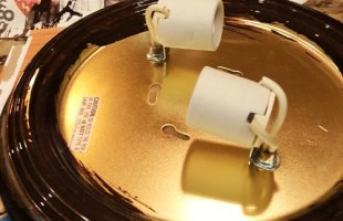 Painting Brass Light Fixtures is a Super Easy and Quick Update!