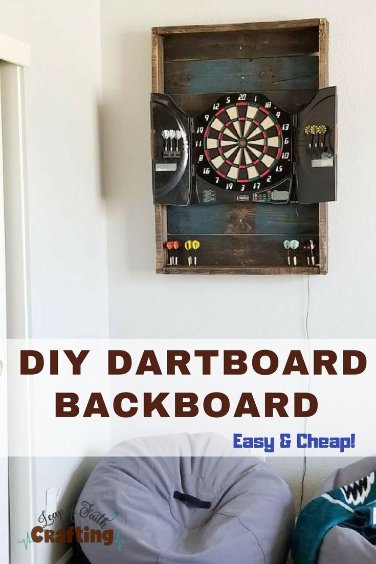diy dartboard backboard pin