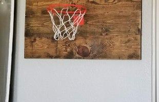 Wall Basketball Hoop DIY From Pallet Wood!