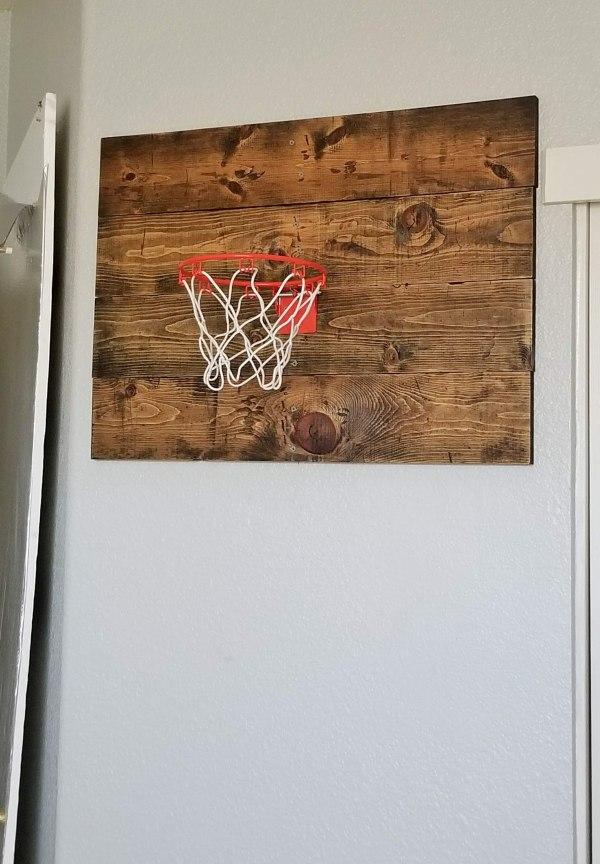 wall basketball hoop diy
