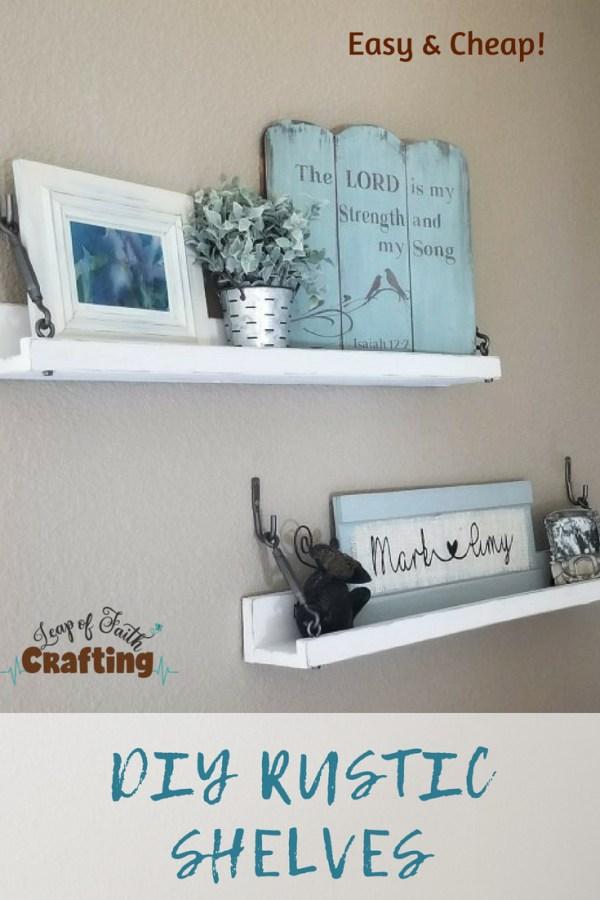 diy rustic shelves pin