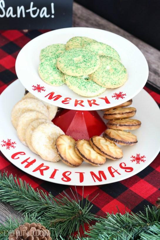diy christmas cookie stand