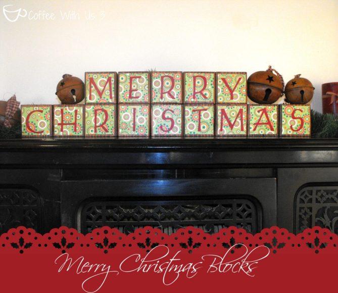 finished christmas blocks x