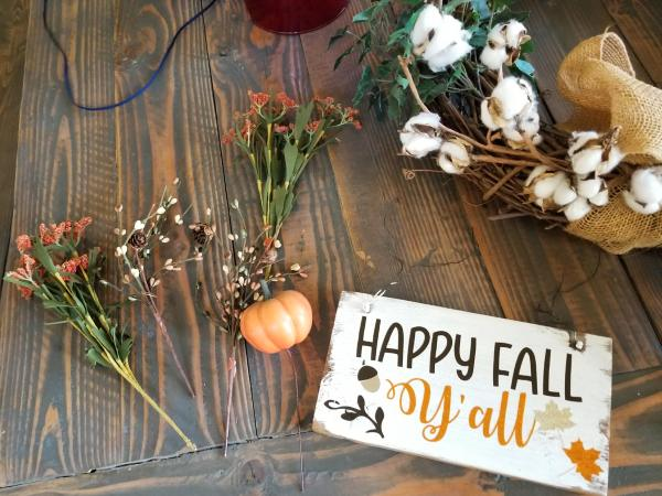 free fall svg diy wreath