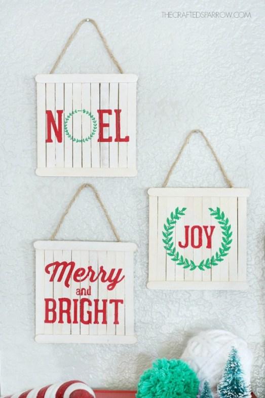 mini pallete sign ornaments